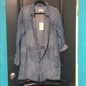 Denim romper onesie